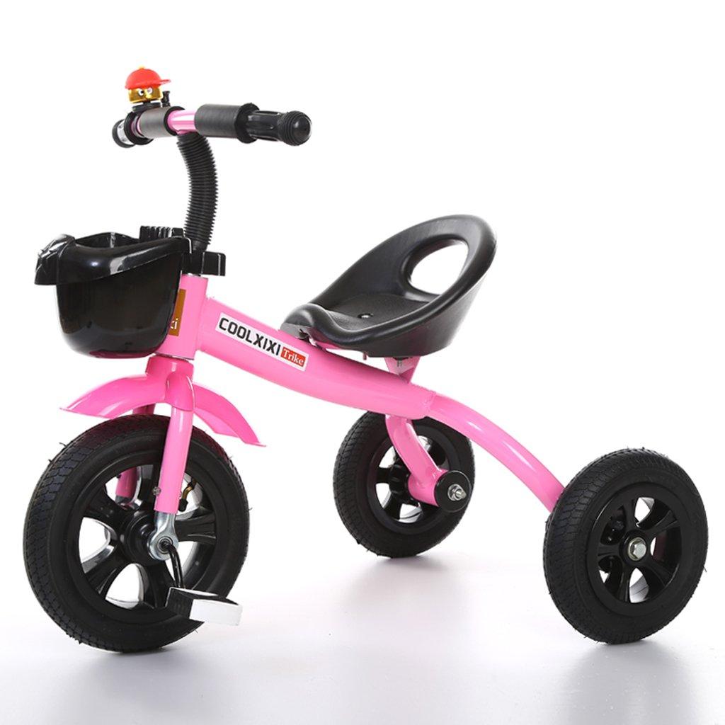 子供の三輪車バイク2-5歳の赤ちゃんの自転車幼児のおもちゃの車、緑/紫/ピンク、68 * 50 * 57センチメートル ( Color : Pink ) B07CG7NTCX