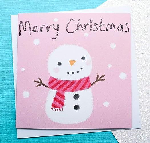 Cute Christmas Cards.Snowman Christmas Card Cute Christmas Cards For Sister