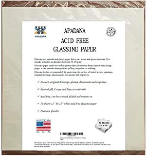 Apadana Acid Free Glassine Paper 25 Sheets 24 x 36 Inches