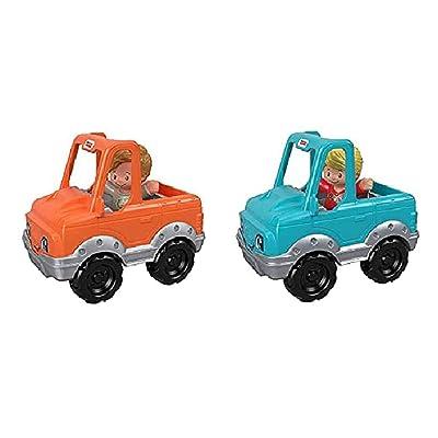 Little People Fisher-Price Help A Friend Pick Up Truck - Little Boy Orange Truck & Little Girl Blue Truck Bundle: Home & Kitchen