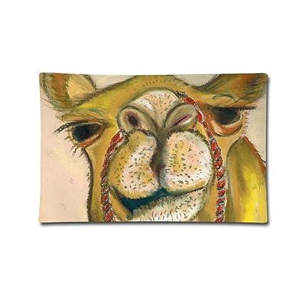 Amazon com: Throw Pillow Case Drawing Camel Face Cushion