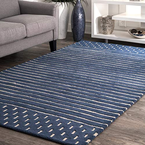 nuLOOM MTNR01A Handmade Marlowe Stripes Wool Rug, 8' 6