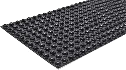 36 Square Rubber Foot Self-Adhesive Clear Non-Slip Feet Vibration Resistant RF57
