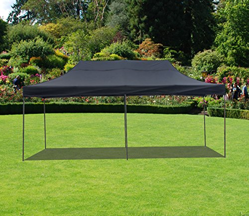 American Phoenix 10×20 Multi Color and Size Portable Event Canopy Tent, Canopy Tent, Party Tent Gazebo Canopy Commercial Fair Shelter Car Shelter Wedding Party Easy Pop Up (Black, 10×20)