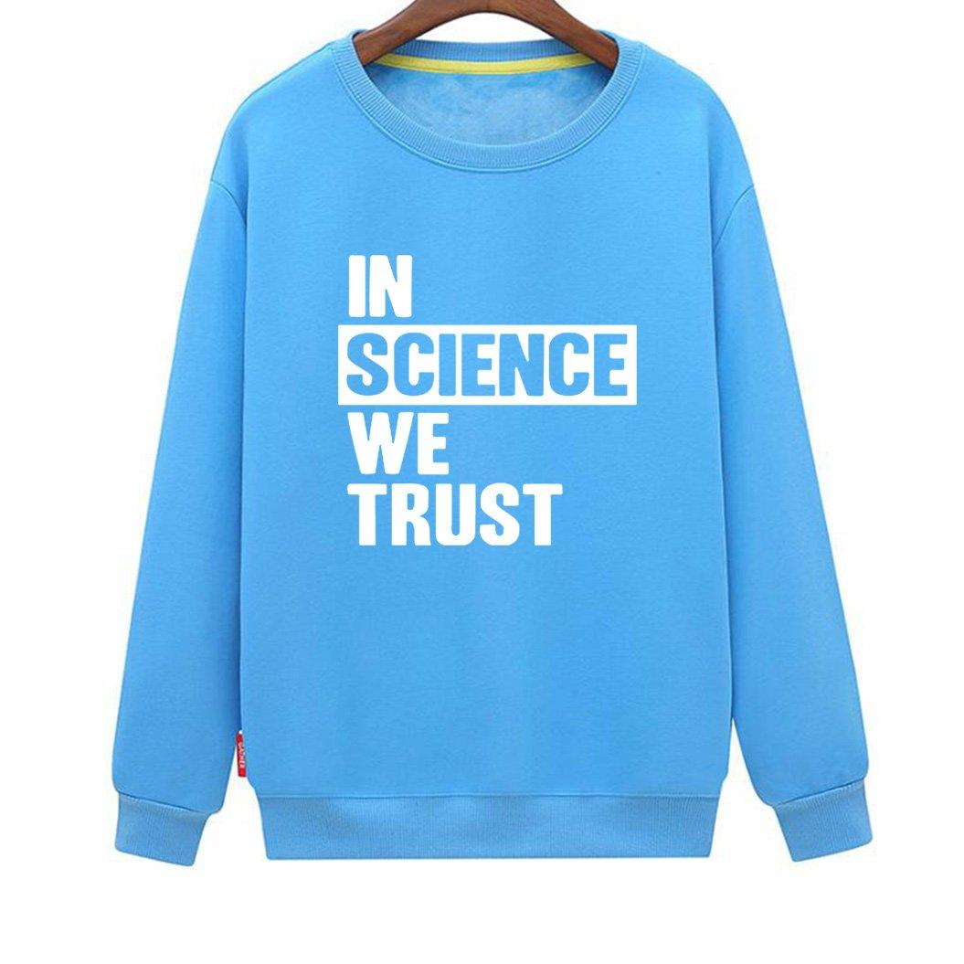 Mens in Science We Trust Cool Novelty Atheist Sweatshirt