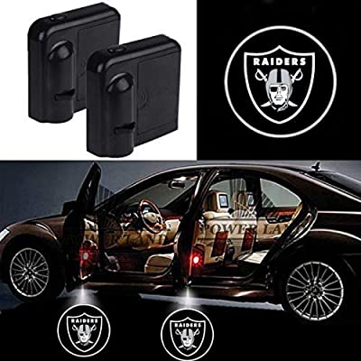 For Oakland Raiders Car Door Led Welcome Laser Projector Car Door Courtesy Light Suitable Fit for all brands of cars: Automotive