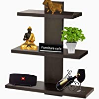 Furniture Cafe Wall Decor Book Shelf/Wall Display Rack (3 Shelves) - Ideal for Gift (Wenge)
