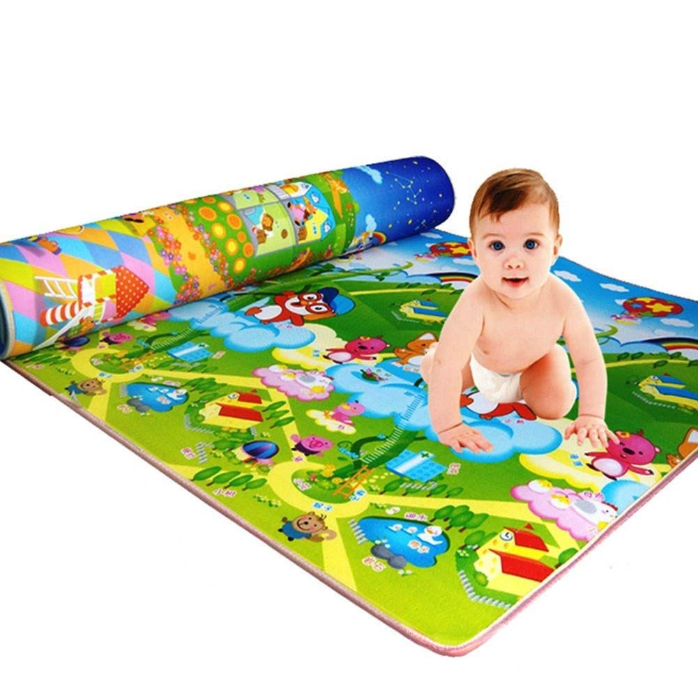 200CM*180CM Baby Kids Farm Game Cotton Waterproof Carpet Play Crawling Mat Toy