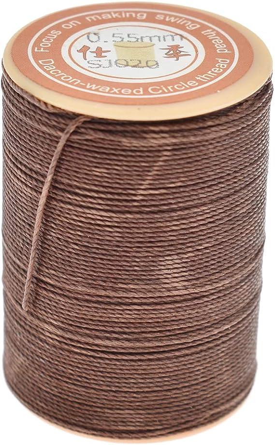 Kesheng - Hilo encerado de piel de 0,55 mm para coser a mano, para ...