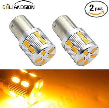 2x 1157 BAY15D 22 SMD 5630 LED White and Yellow Car Turn Signal Light Bulb DC12V