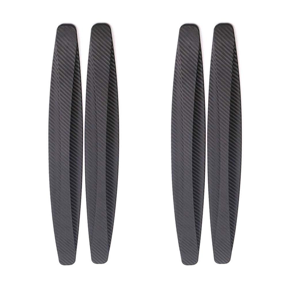 Roful Paraurti a strisce antigraffio bordo porta in fibra di carbonio 4 pezzi