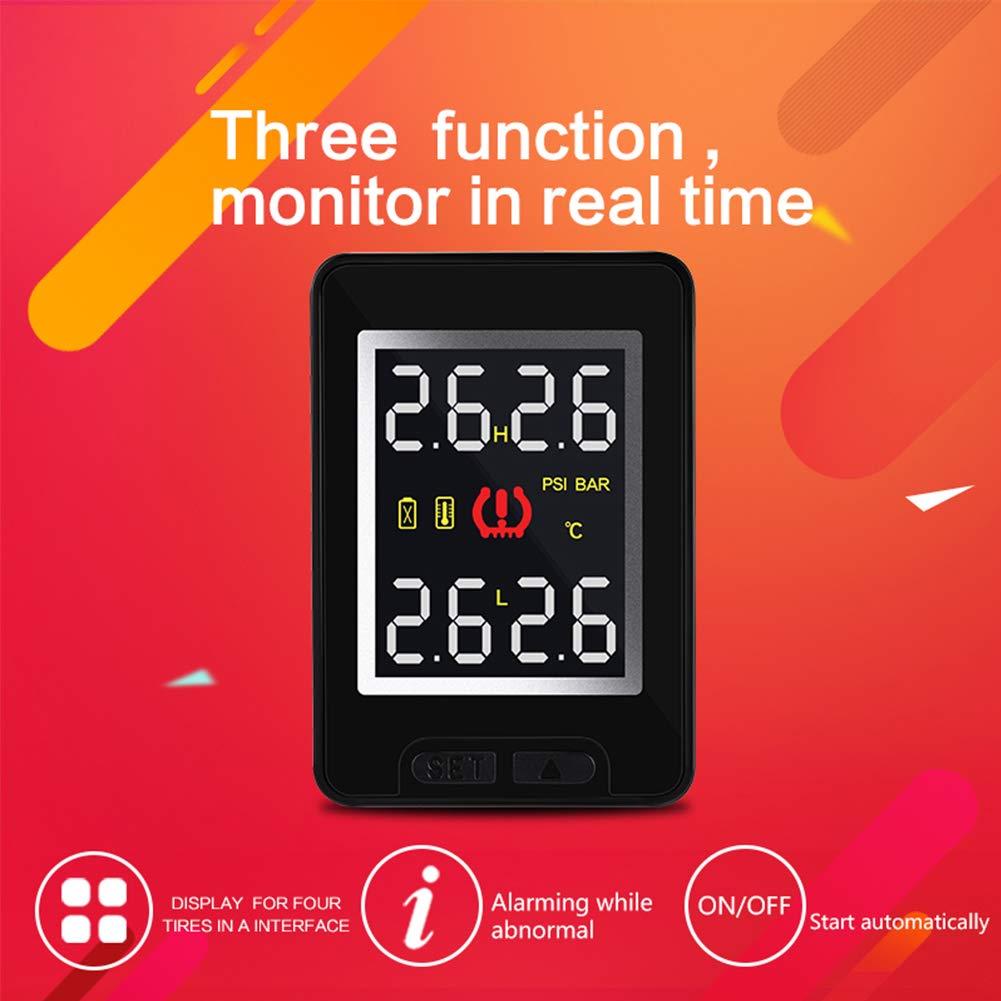 Romsion per Toyota Careud U912 auto senza fili TPMS sistema di monitoraggio della pressione dei pneumatici con 4 sensori display LCD integrato monitor