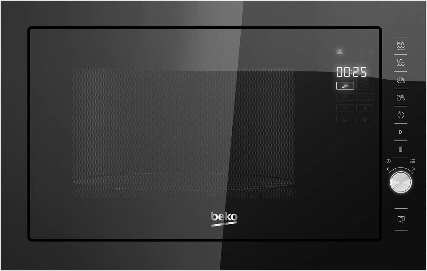 Beko MGB 25333X Microondas Integrable con Grill, 900 W, 25 litros ...