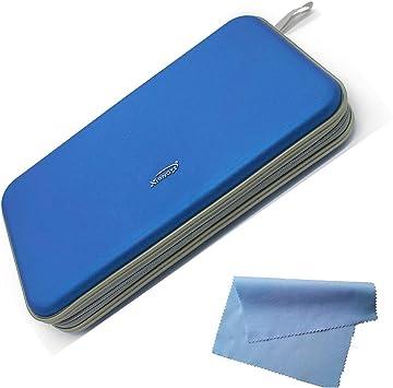 Estuche Rígido para Almacenamiento de CD en DVD para 80 Discos. Durable Organizador de Viajes. (Azul): Amazon.es: Electrónica