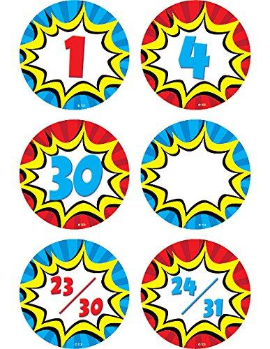 Teacher Created Resources Superhero Calendar Days (5589) -