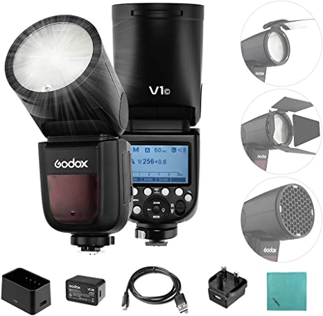 Godox V1C Flash Cámara Profesional Speedlite Speedlight de Cabeza ...