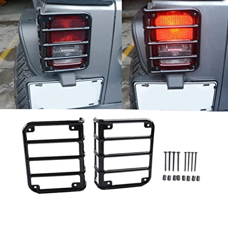 MAIKER Jeep Wrangler Rear Tail Light Guards Cover For 2007 2017 Jeep  Wrangler Unlimited JK