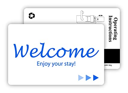 Hotel & Motel Popular WELCOME Magnetic Stripe Key Cards -500 per case