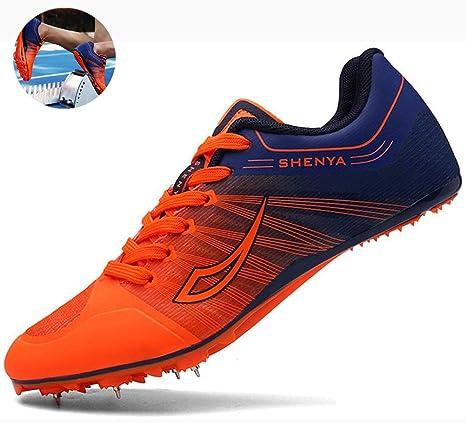 ZDGM Zapatilla De Correr con Clavos Sprint 7 Zapatillas de Atletismo Unisex Adulto Track and Field Sneaker Pista de Goma Antideslizante Agarre Fuerte,001,35EU: Amazon.es: Deportes y aire libre