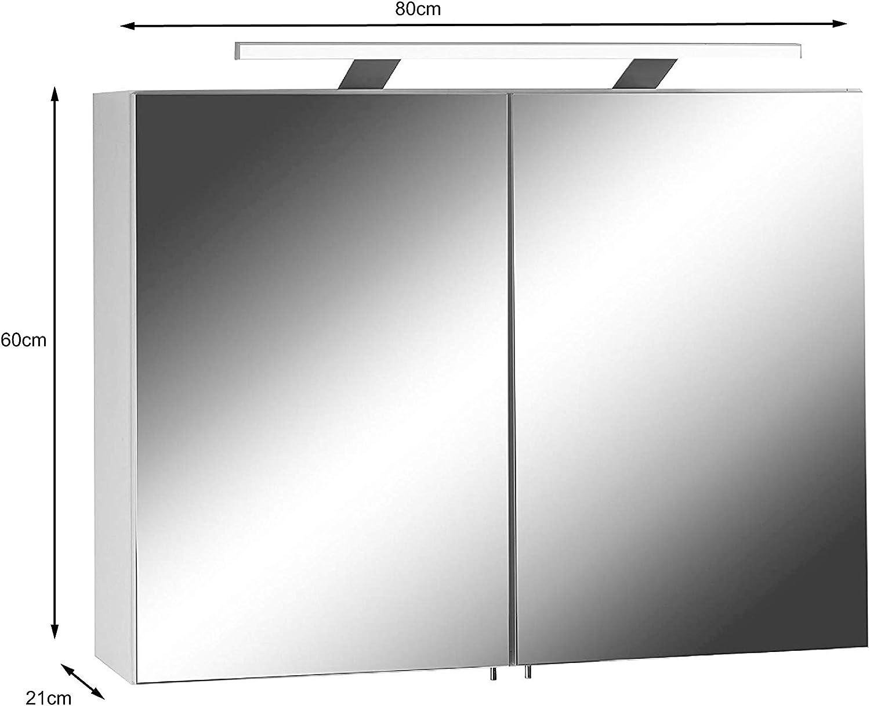 Homexperts Spiegelschrank Sleek 04 Eleganter Badezimmerschrank