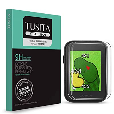 [2-Pack] TUSITA Tempered Glass Screen Protector Bundle for Garmin Approach G30 - HD Clarity Protective Film - Handheld Golf GPS Accessories: MP3 Players & Accessories