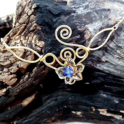Ivy Leaf Elven Necklace Eowyn - Custom Colors