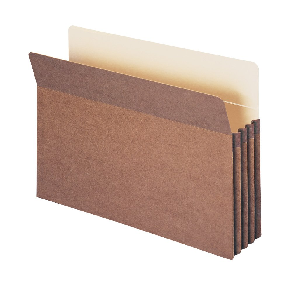 Smead File Pocket, Straight-Cut Tab, 3-1/2'' Expansion, Legal Size, Red, 50 Per Carton (74805)
