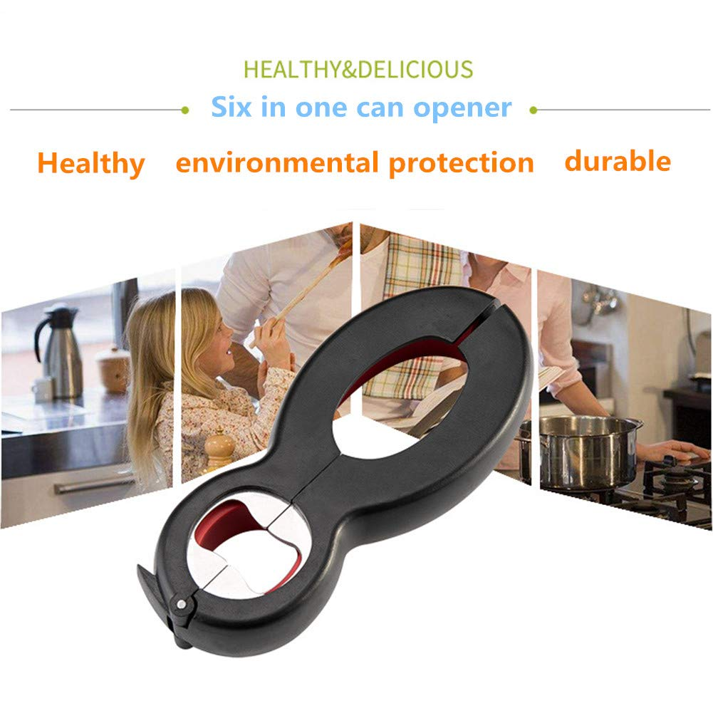 Wine /& Beer Elderly /& Arthritis Sufferers 2 in 1 Cans Bottle Can and Jar Opener Multi Kitchen Tool for Jars Ergonomic Can Opener for Seniors