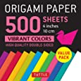 Origami Paper 500 sheets Vibrant Colors: 4 inches (10 cm)