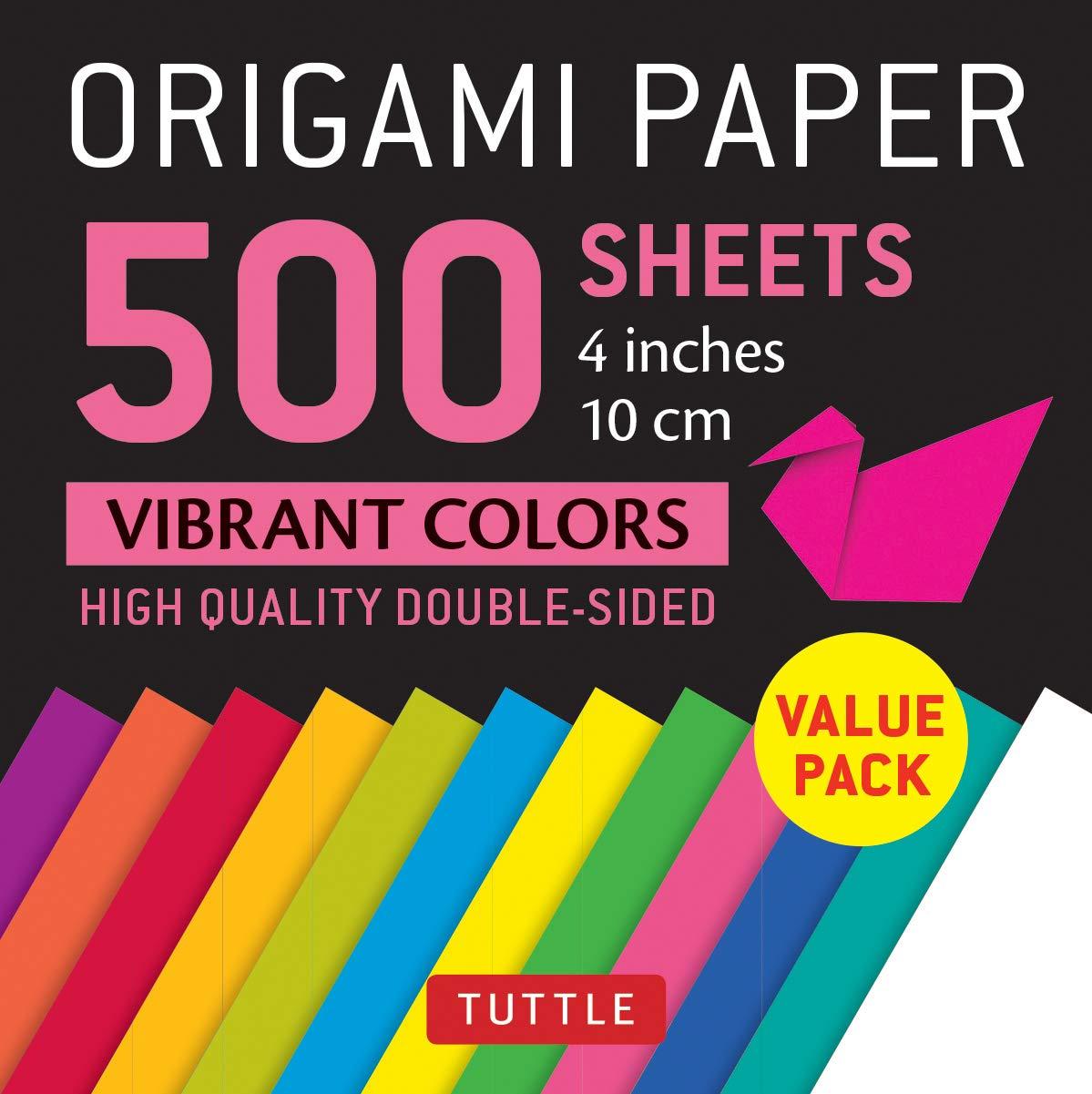 Vibrant Colors Origami Paper 500 Sheets
