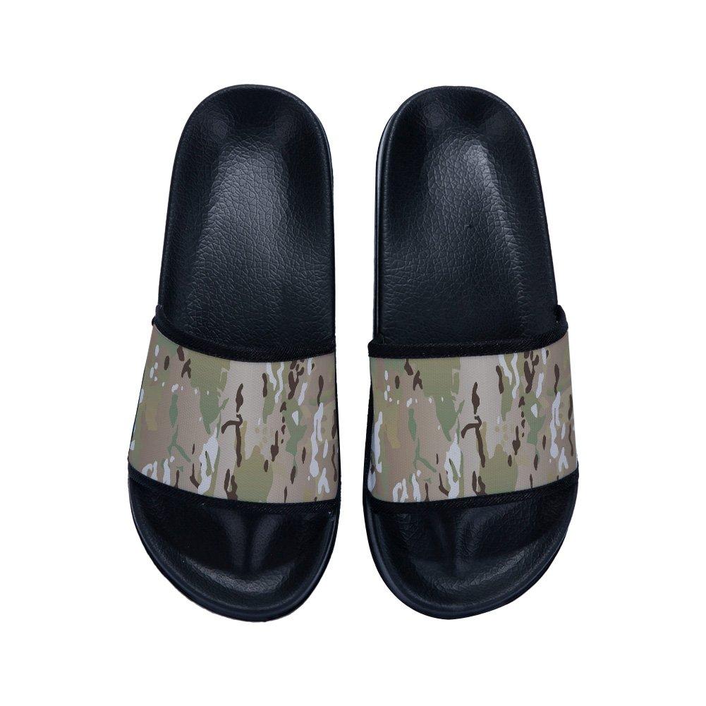 Men Slide Sandals Comfortable Soft Bathroom Sandal Shower Slippers Camouflage
