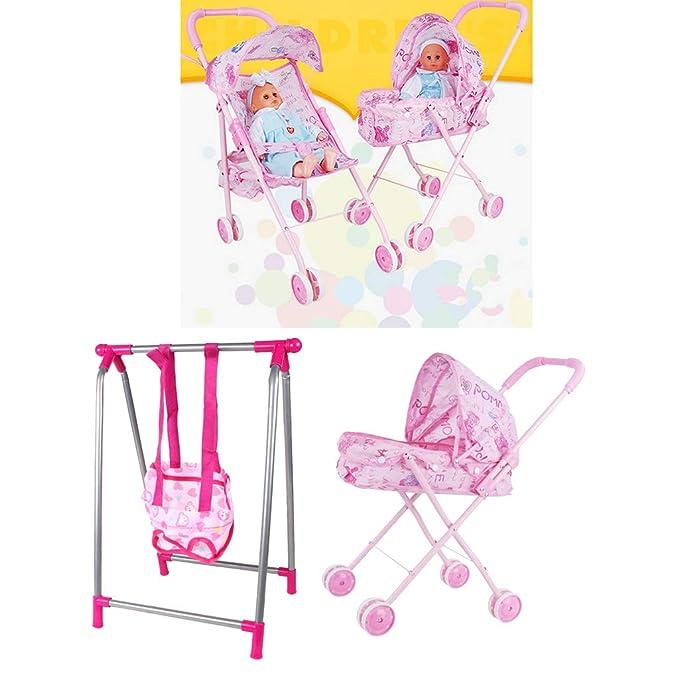 Amazon.com: Fityle - Juego de carrito de bebé para niños ...