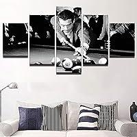 JSBVM Moderno Casa Arredamento Manifesto componibile Pittura 5 Pannello HD Stampato Biliardo di Personaggi di Star del Cinema Tela Immagini di Wall Art