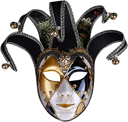Mardi Gras Carnival Masquerade Jester Mask Costume Birthday Party Collection