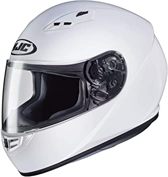 Black//Medium HJC Solid Adult CS-R3 Street Motorcycle Helmet