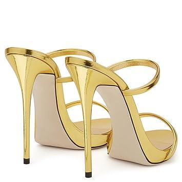 LUCKY CLOVER-A Sandalias De Tacón Alto Mujeres Zapatos De Corte Clásico  Tacón De Aguja fdddcac211a4