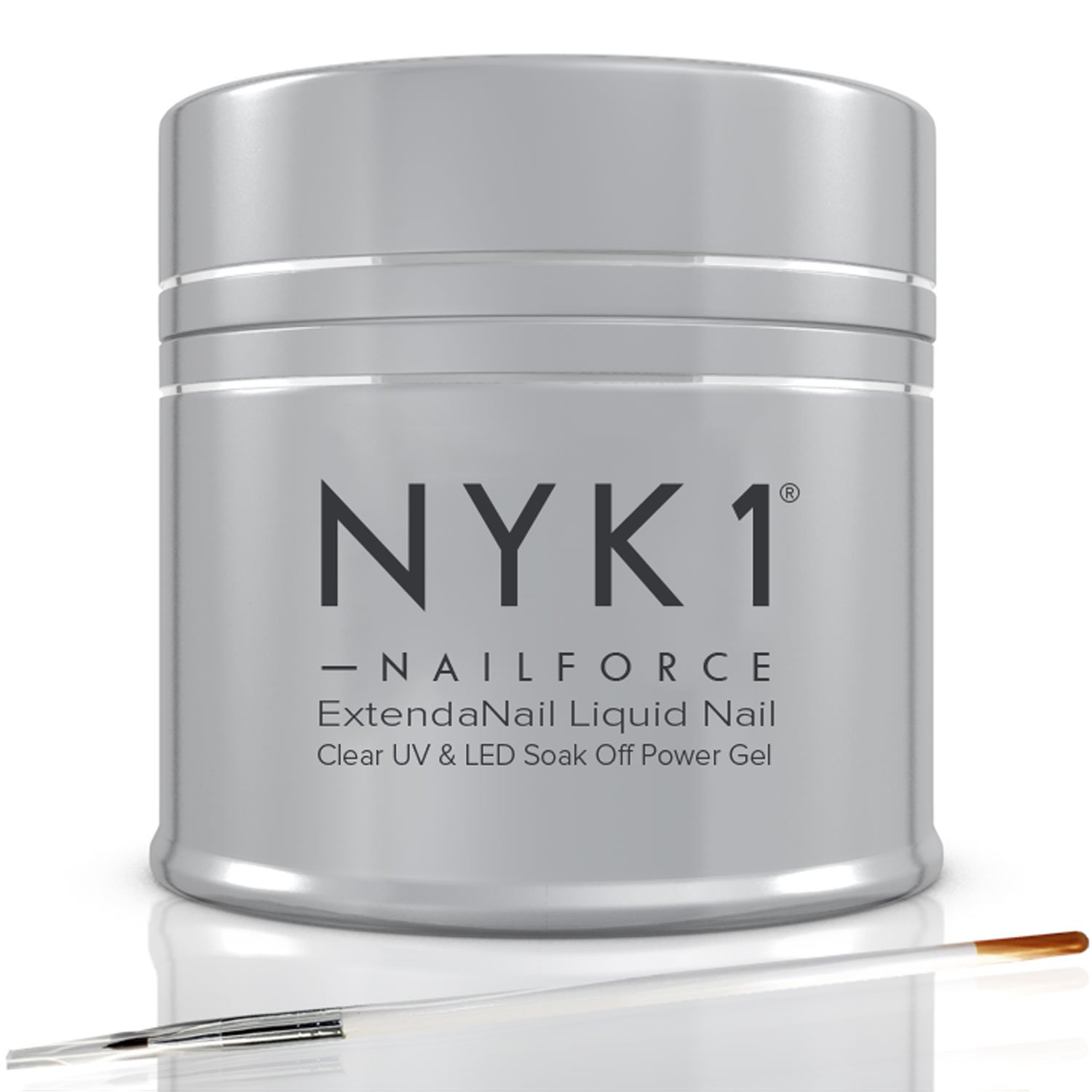 NYK1 NAIL FORCE UV and LED Power Gel Builder Glue Repair, Fix Split ...