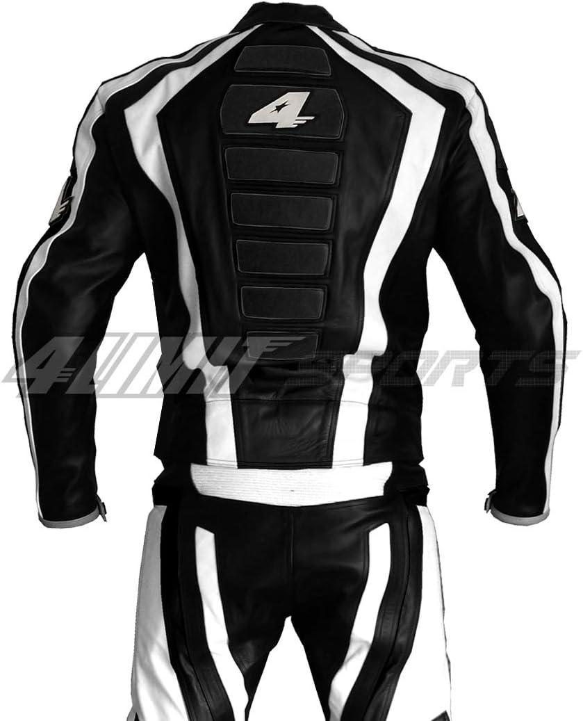 Taille S 4LIMIT Sports Combinaison Moto en Cuir Laguna Seca 2 Pi/èces Blanc//Noir