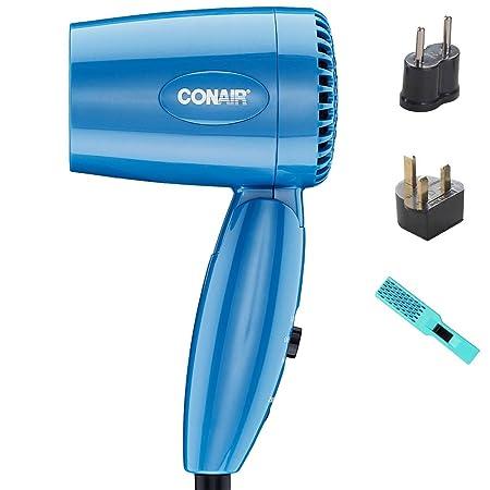 Going In Style UK 1600 Watt Hair Dryer w Hair Brush and Adapter Travel Beauty Set