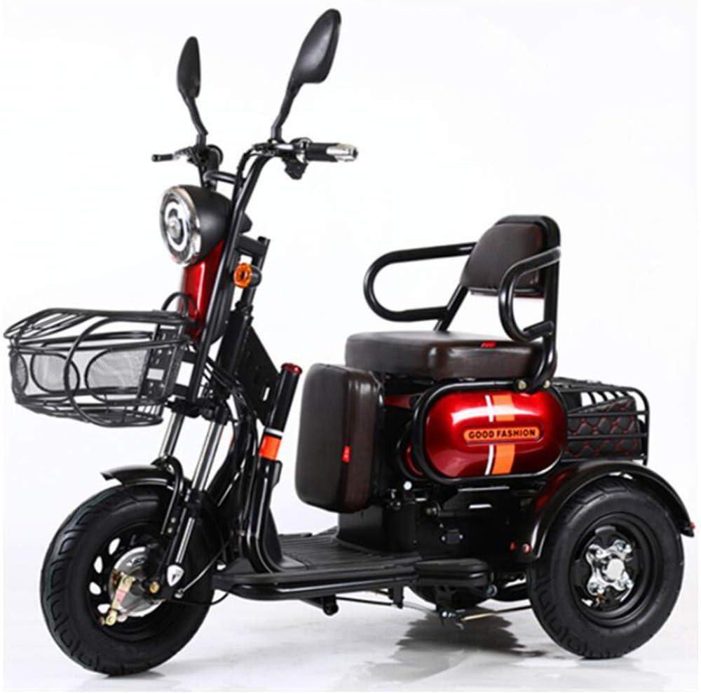 Evin Simple o Doble Riding 60V20A Scooter eléctrico, batería Puede durar 70 Kilómetros, Apto para diversión al Aire Libre Scooters para Personas Mayores y Las Personas con discapacidad,Rojo