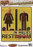 Forum Novelties Bloody Bathroom Restroom Door Sign, Multicolor