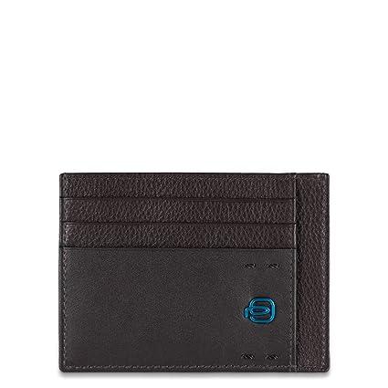 selezione migliore 9e384 73cb5 Piquadro PP2762P15/M Porta carte di credito, Linea Pulse, Marrone, 11 cm