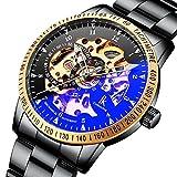 BesTn Wristwatches for men self-winding Allochroic Luminous Hands Skeleton...