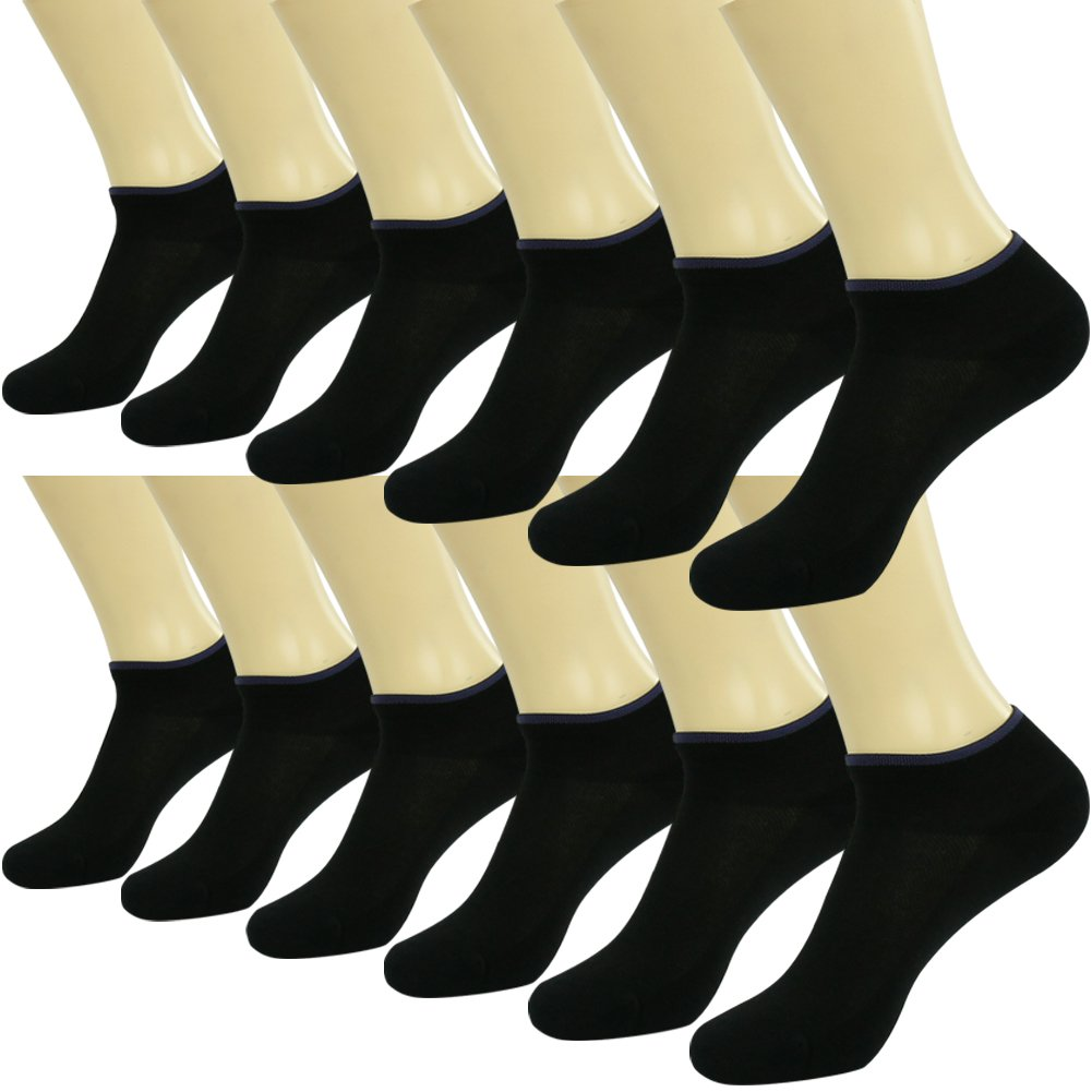Atheltic No Show Socks Facool Woman's Ladie's Fashion 12 Pairs Everyday Low Cut/Ankle Casual Socks Black by Facool