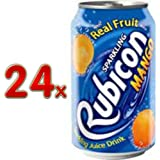 Rubicon Sparkling Mango Juice Drink Cans, 24 x 330 ml
