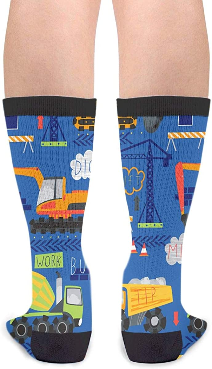 Construction Site Machinery Ultra Light For Men And Women Casual Socks