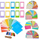 5 in 1 Giant Colorful Bundle Kit Accessories for Fujifilm Instax Mini 9/8 Camera - Assorted Accessory Pack of 120 Sticker Frames + 10 Plastic Desk Frames + 20 Hanging Frames + MORE