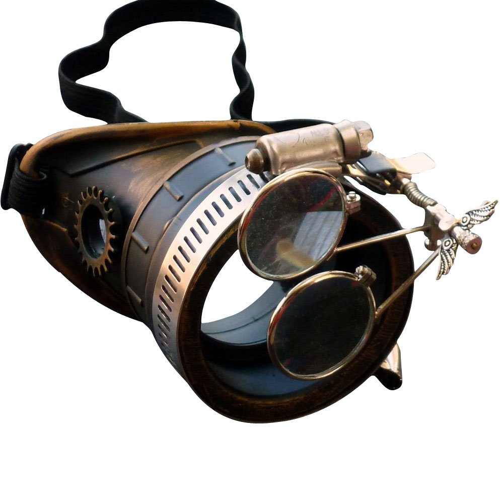 Steampunk Victorian Goggles welding Glasses monocle clear lens RIGHT eye by umbrellalaboratory