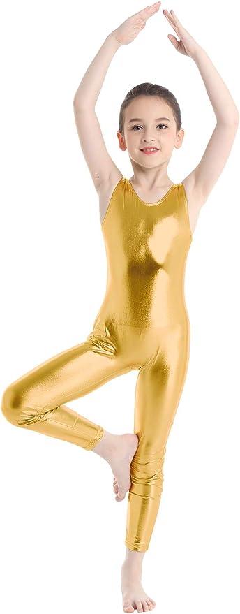 TiaoBug Leotardo de Danza Ballet Gimnasia R/ítmica El/ástica Bodys B/ásico Cl/ásico de Pr/áctica Yoga Ni/ñas Maillots Leotardo Brillos de Baile Ballet Ni/ñas 3-14 A/ños
