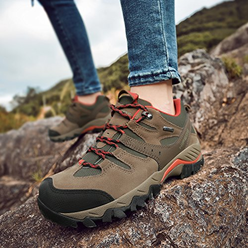 Pictures of HIFEOS Hiking BootsMens Womens Unisex Suede Leather 1